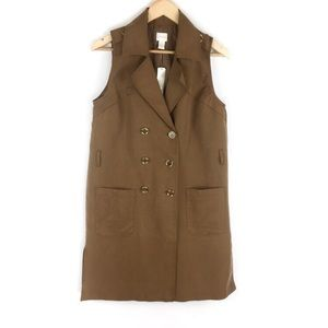 Chico's Sleek Trench Vest Size Small (Chico's 0)